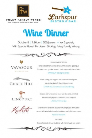 Larkspur's October Wine Event
